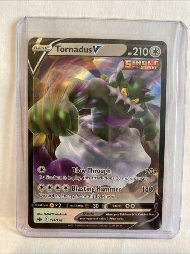 Pokemon Card Tornadus V Ultra Rare (124/198) - SWSH Chilling Reign NM