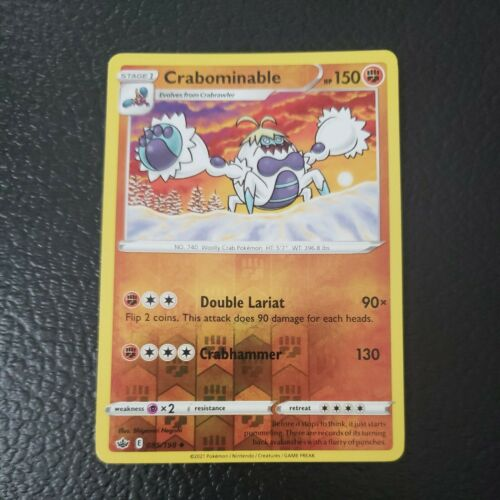 Pokemon TCG Chilling reign reverse holo Crabominable 085/198 85/198