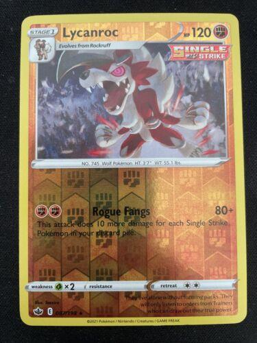 Lycanroc 087/198 Reverse Holo Rare Chilling Reign Pokemon Card
