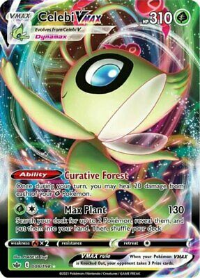x1 Celebi VMAX - 008/198 - Ultra Rare Pokemon SS06 Chilling Reign M/NM