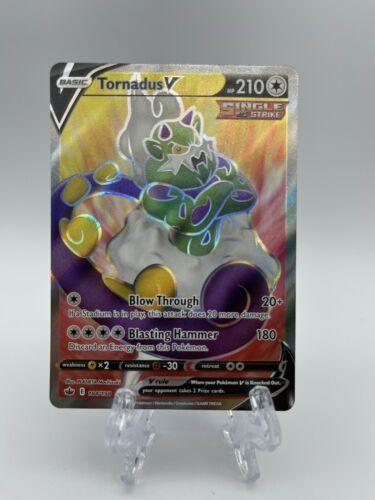 Tornadus V 184/198 Full Art Ultra Rare Pokemon Card Chilling Reign MINT