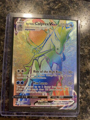 Ice Rider Calyrex Vmax Secret Rare- 202/198 - Chilling Reign - Mint