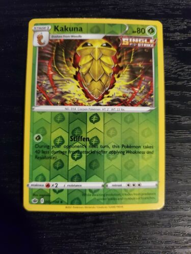 Kakuna 002/198 Chilling Reign Reverse Holo Pokemon Card NM