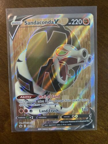 Pokemon - Sandaconda V - 175/198 - Full Art - Chilling Reign - NM/M