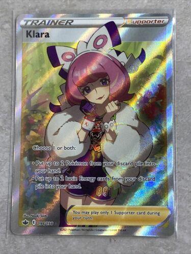Klara (Full Art) Trainer 194/198 Ultra Rare FOIL - Pokemon TCG - Chilling Reign