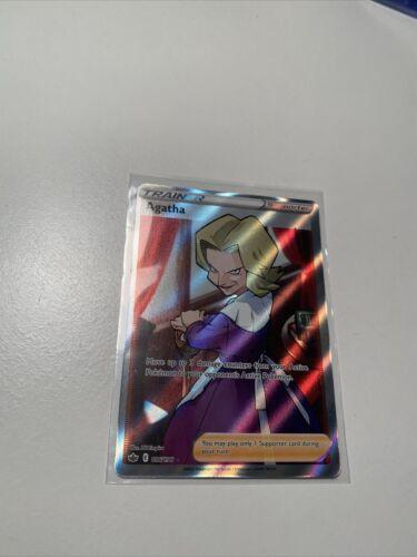 Agatha Full Art Trainer Card 186/198 Ultra Rare Pokemon TCG Chilling Reign! NM