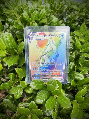 Pokemon Chilling Reign Ice Rider Calyrex VMAX 202/198 Rainbow Secret Rare