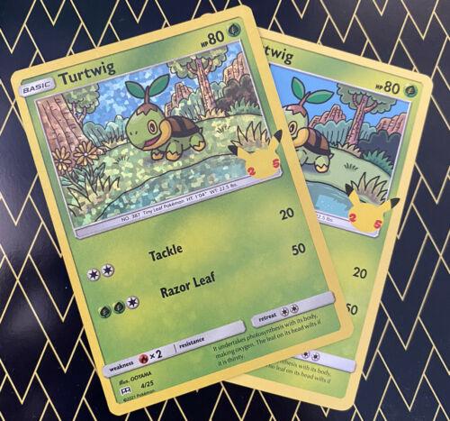 Pokemon McDonald's 2021 Turtwig 4/25 HOLO AND Non Holo 25th Anniversary NM