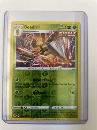 Pokemon TCG Chilling Reign reverse holo Beedrill 003/198 NM