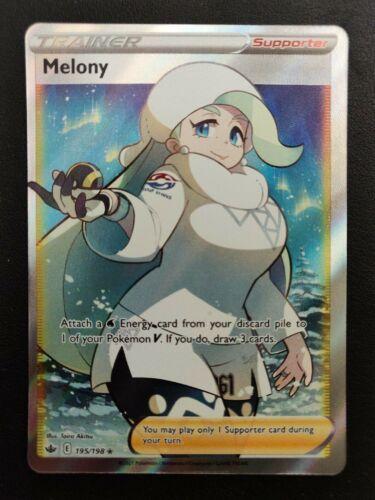 Pokémon Melony 195/198 Full Art Trainer Chilling Reign And Honey 192/198