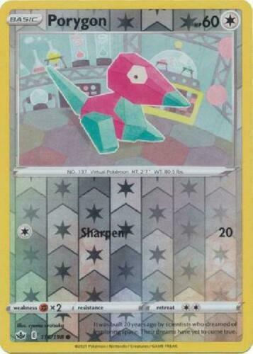 Pokemon - Porygon - 116/198 - Reverse Holo - Chilling Reign - NM/M