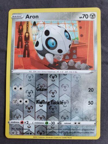 Pokemon - Aron - Chilling Reign - 109/198 - Reverse Holo NM