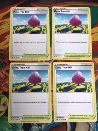 135/198 Dyna Tree Hill | Trainer Stadium Playset x4 | Chilling Reign | Pokemon