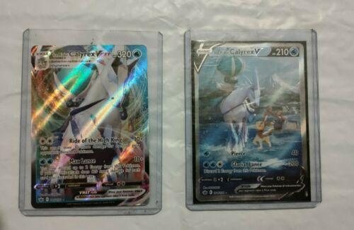 Pokémon Chilling Reign Ice Rider Calyrex V/VMAX Cards 46/198 & 164/198 PCK FRESH
