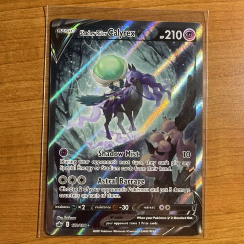 Shadow Rider Calyrex V (172/198) - Alt Full Art Chilling Reign - Pokémon Mint/NM