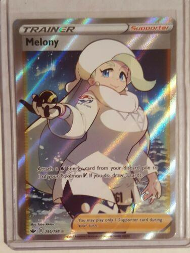 Melony 195/198 Chilling Reign Full Art Trainer Ultra Rare Holo Pokemon Card NM/M