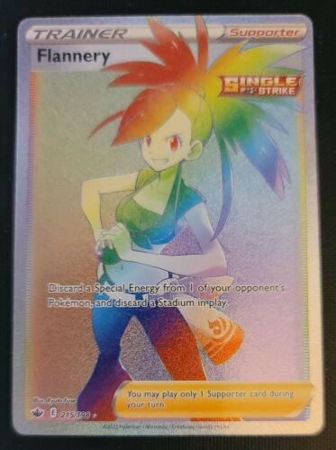 Pokemon Chilling Reign Flannery Full Art Secret Rare Rainbow 215/198