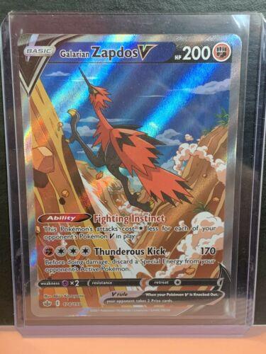 Pokemon Galarian Zapdos V 174/198 Alternate Full Art Chilling Reign NM