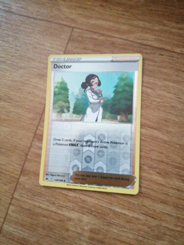 134/198 Doctor | Reverse Holo | Chilling Reign | Trainer Supporter - Image 1
