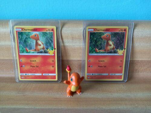 Pokemon Charmander McDonald's Hologram 9/25 & Non Holo & 2015 Charmander figure!