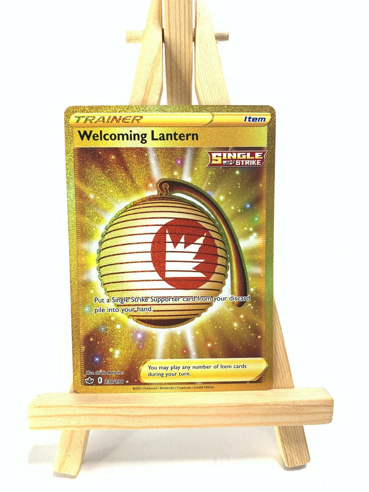 Pokemon - WELCOMING LANTERN 230/198 - Chilling Reign - Secret Rare - NM