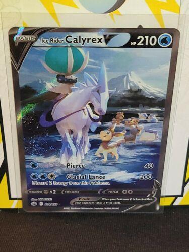 2021 Chilling Reign Ice Rider Calyrex V #164/198 Full Art Ultra Rare Mint