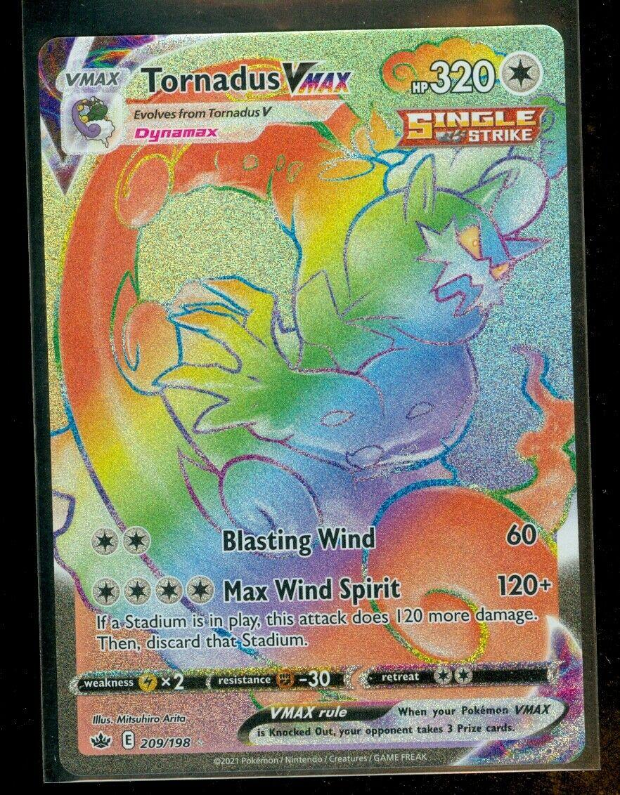 Pokemon TORNADUS VMAX 209/198 Chilling Reign HYPER RARE FULL ART - MINT
