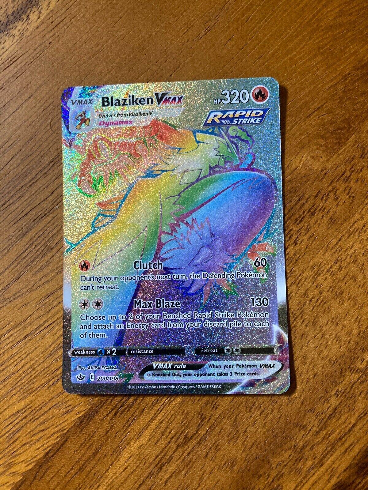 Blaziken VMAX Secret Rare - 200/198 - Chilling Reign - Mint!