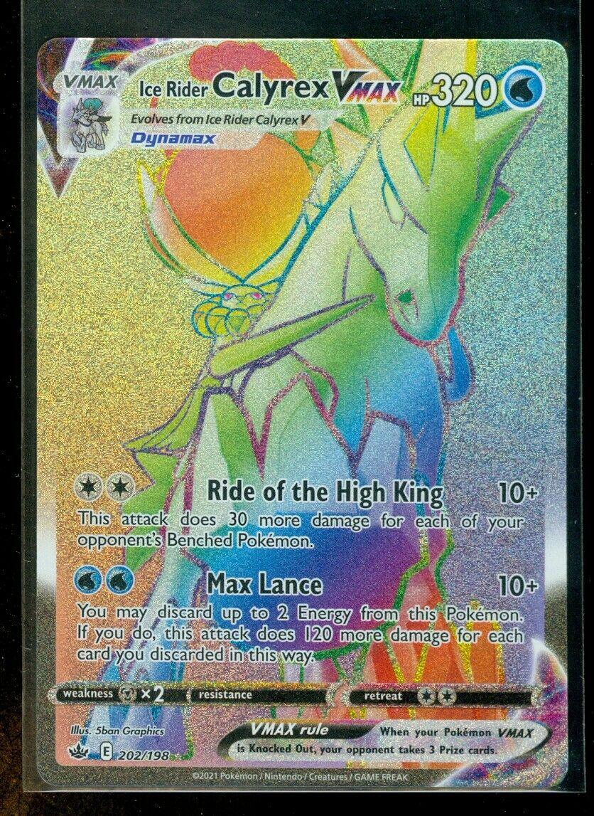 Pokemon ICE RIDER CALYREX VMAX 202/198 Chilling Reign HYPER RARE FULL ART - MINT