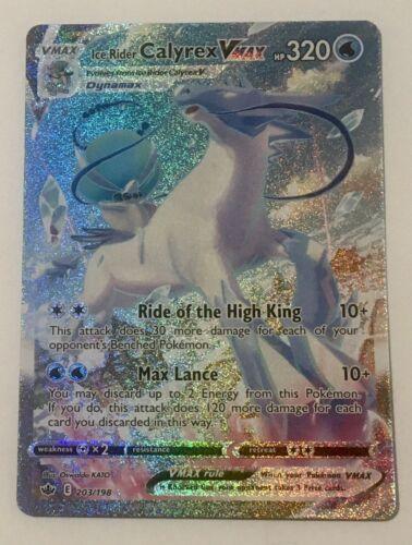 Ice Rider CALYREX VMAX 203/198-CHILLING REIGN POKEMON CARD- ALTERNATE ART- MINT