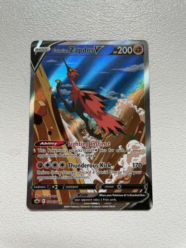 Chilling Reign Galarian Zapdos V Alternate Art 174/198 Ultra Rare Pokemon Card