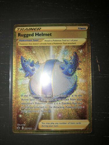 Pokemon TCG Rugged Helmet 228/198 Gold Secret Rare Chilling Reign NM/M