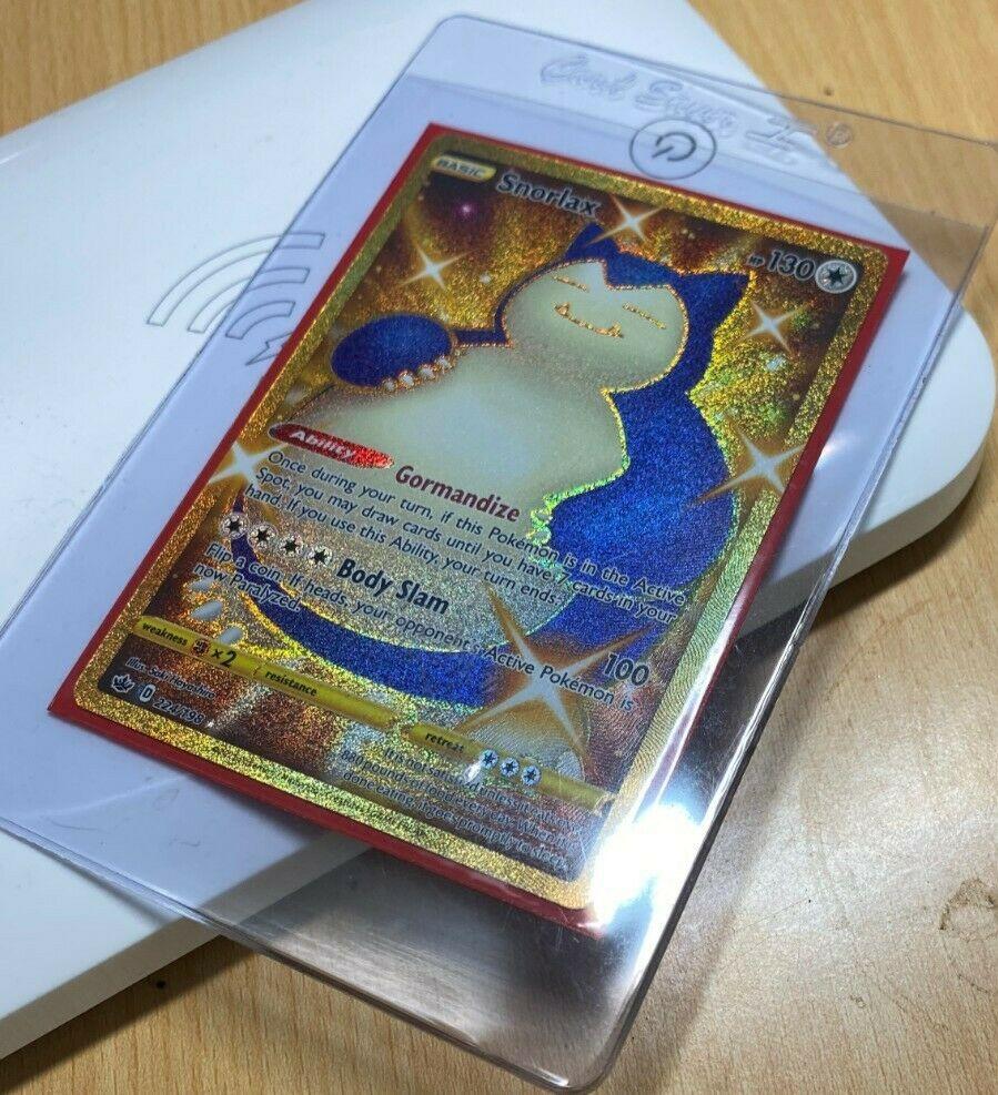 Shiny Snorlax 224/198 Chilling Reign Gold Secret Rare Pokemon Card NM Ultra Psa