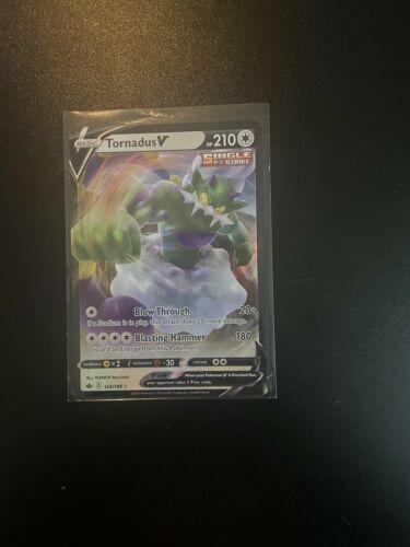 """Pokemon """"Tornadus V"""" Single Strike 124/198 CHILLING REIGN (NM)"""