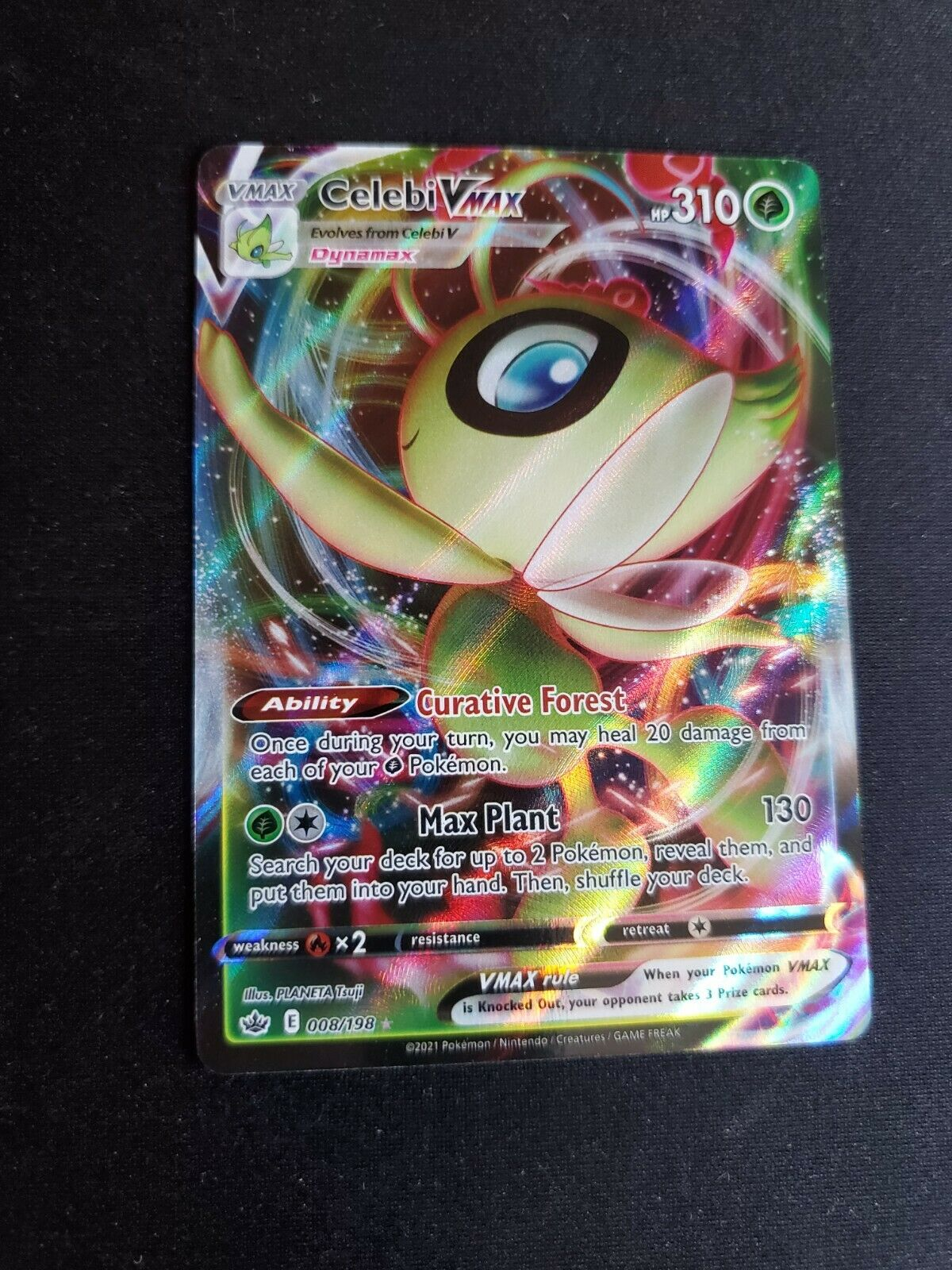 Celebi VMAX - 2021 Pokémon Chilling Reign Holo Rare Full Art #008/198