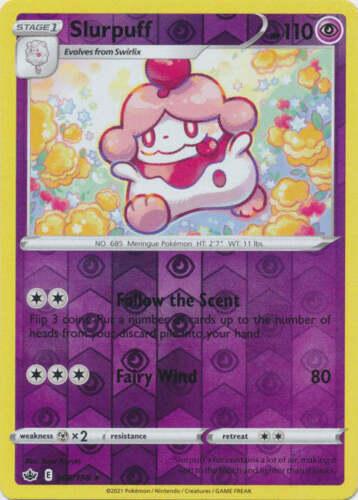 Pokemon -  Slurpuff - 068/198 - Reverse Holo Rare - Chilling Reign - NM/M