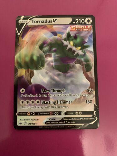 Tornadus V 124/198 Full Art NM/M Chilling Reign Pokemon Card
