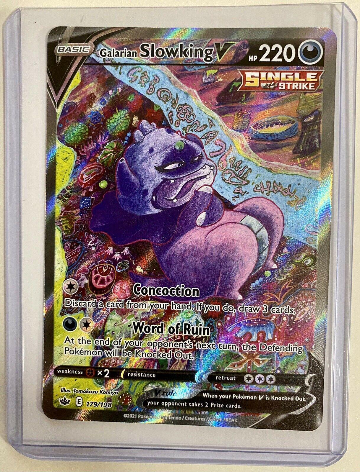 Galarian Slowking V 179/198 Alternate Full Art Chilling Reign Pokemon Card