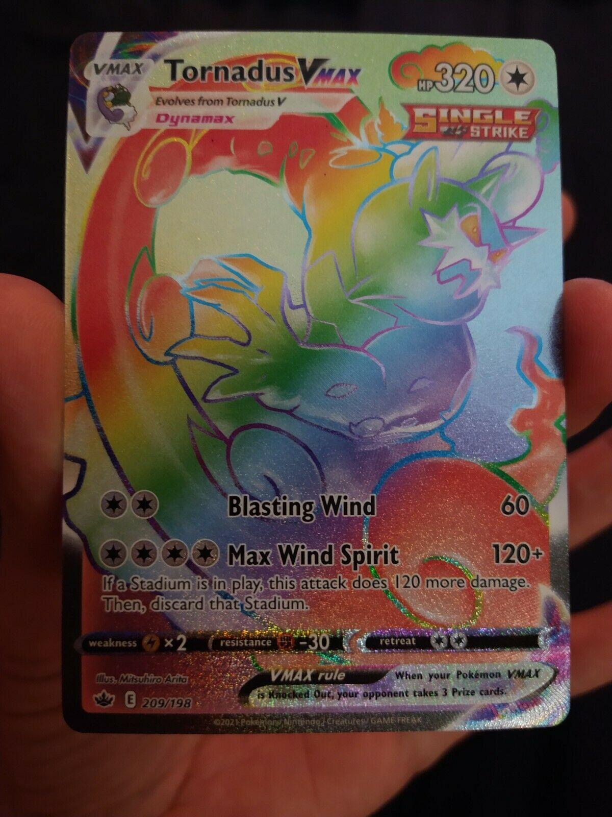 Rainbow Secret Rare Tornadus VMAX 209/198 (MINT)- Pokemon TCG Chilling Reign