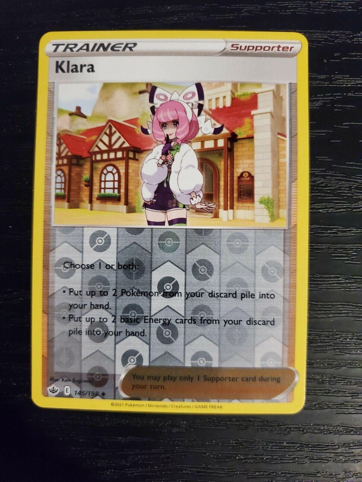 Klara 145/198 Chilling Reign Reverse Holo Pokemon Card NM