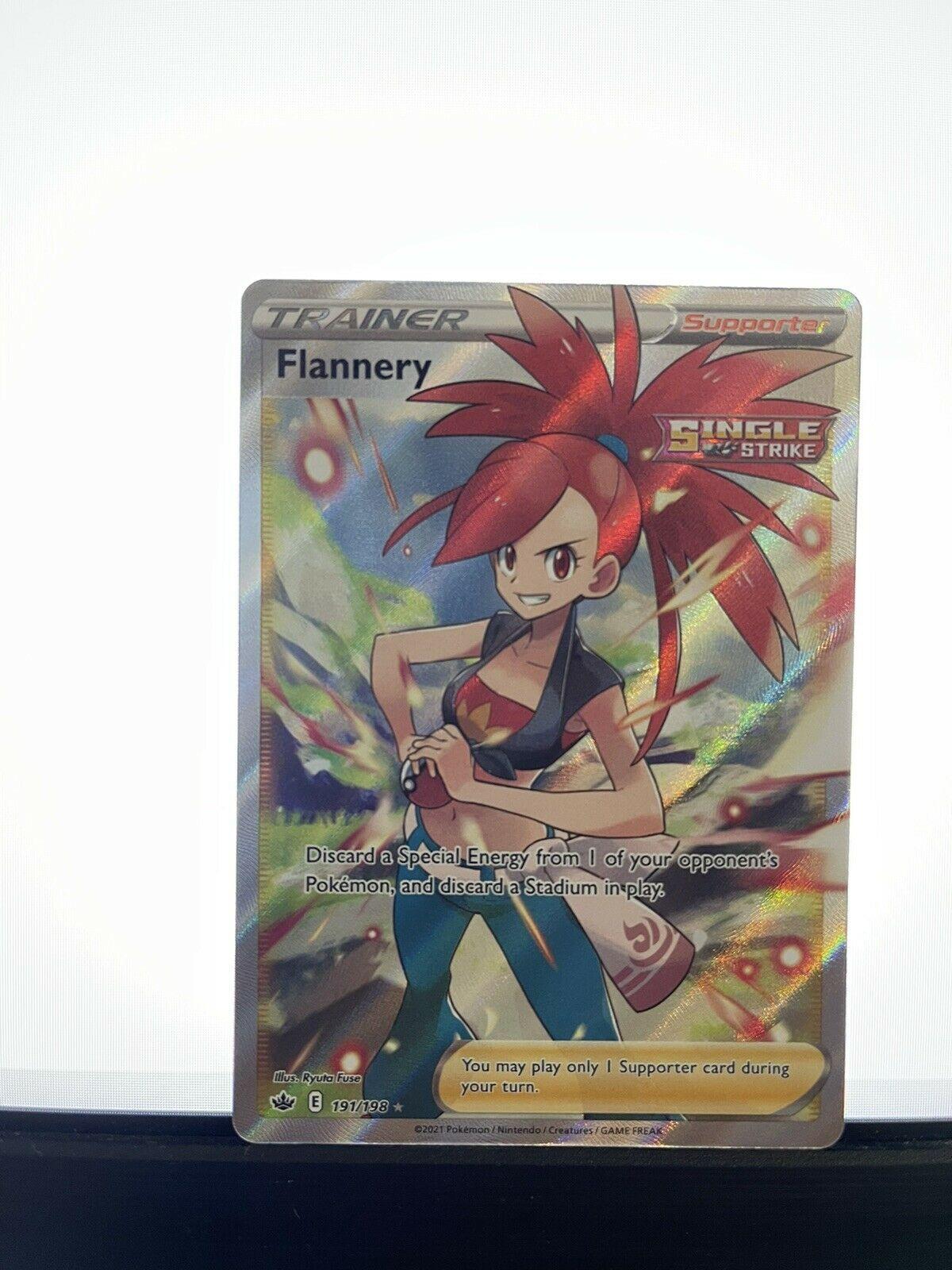 Flannery (Full Art) - 191/198 - Chilling Reign Ultra Rare Pokemon Card
