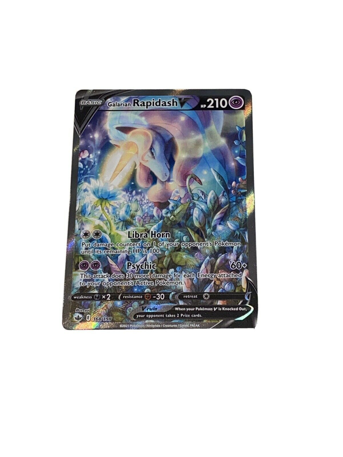 Galarian Rapidash V - 168/198 - Alternate Art - Chilling Reign - Pokémon