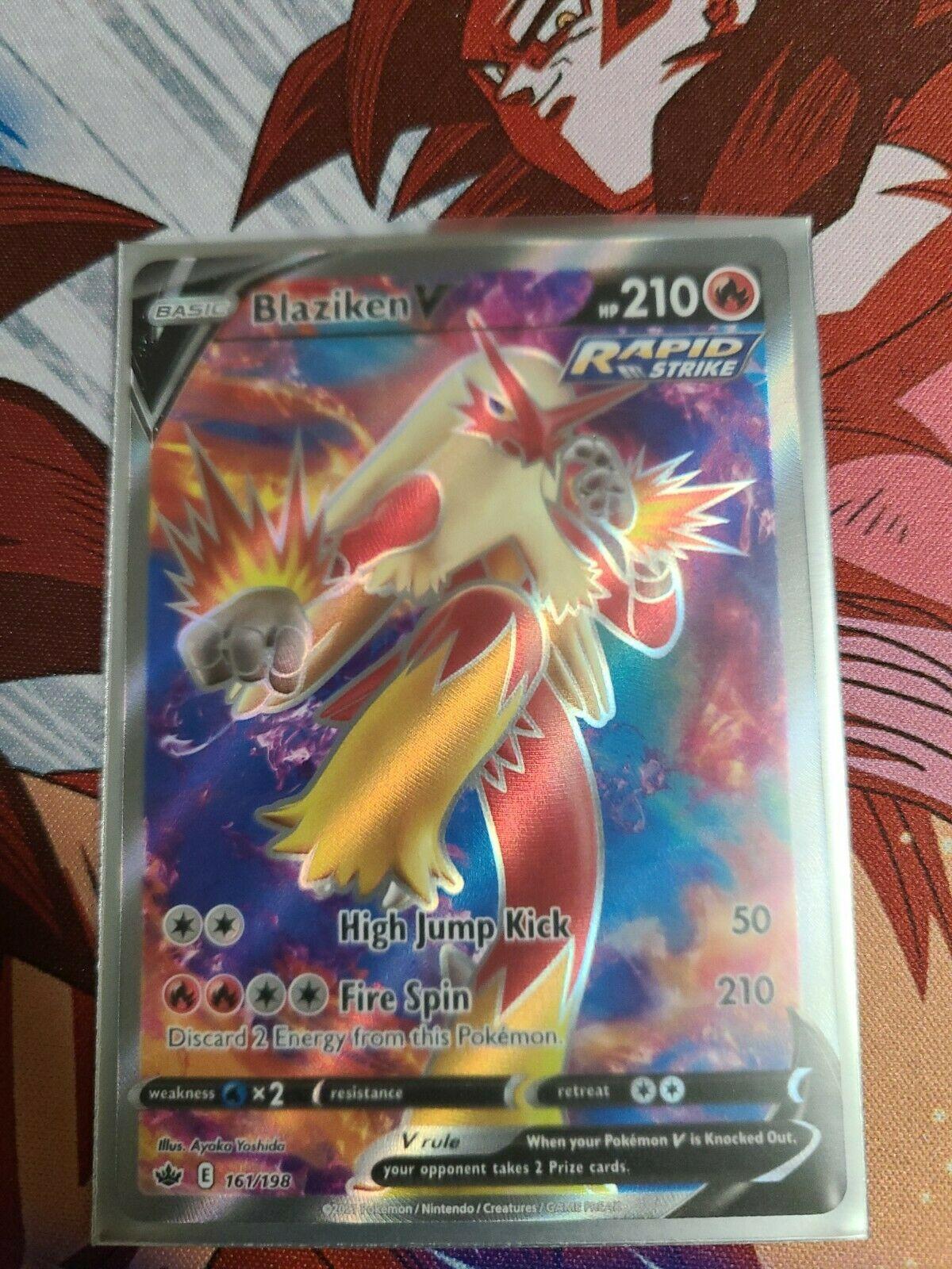 Pokemon Chilling Reign Blaziken V Full Art 161/198 NM