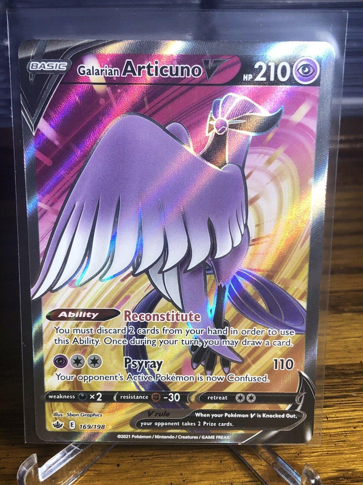 Galarian Articuno V 169/198 Full Art NM/M Chilling Reign Pokemon Card 🔥🔥