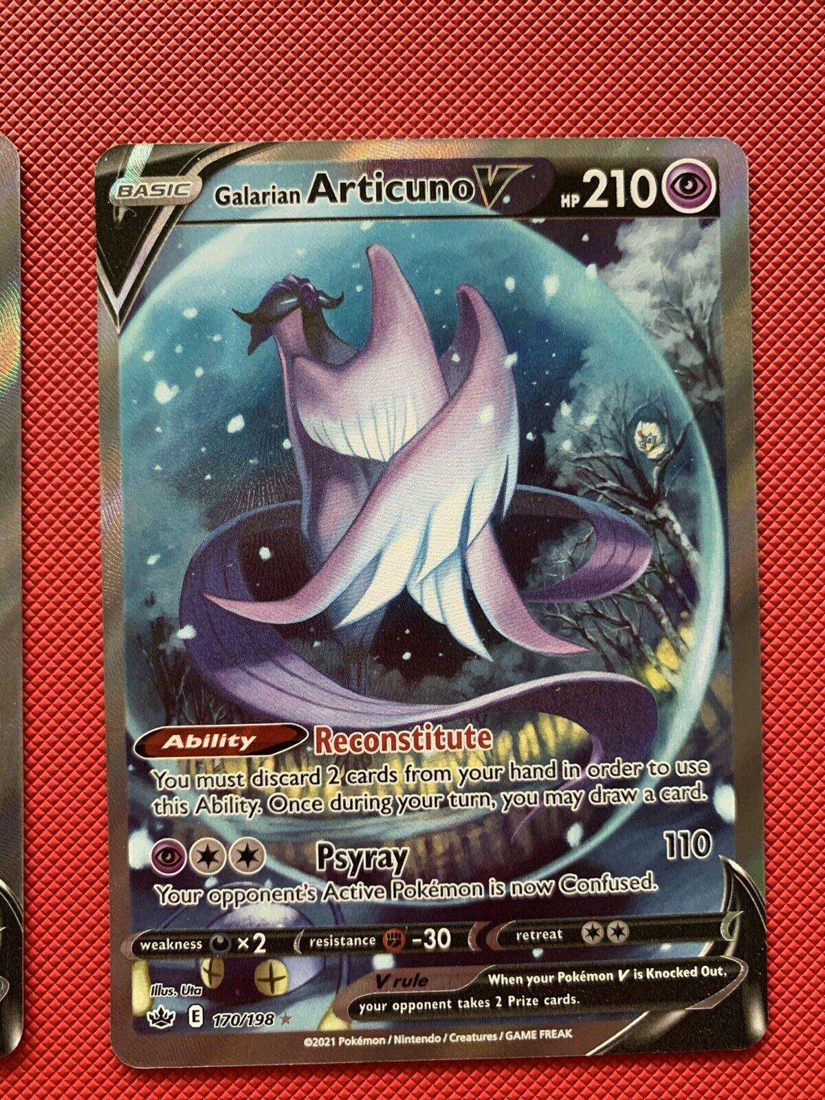 Pokemon Chilling Reign - Galarian Articuno V 170/198 Alternate Art NM