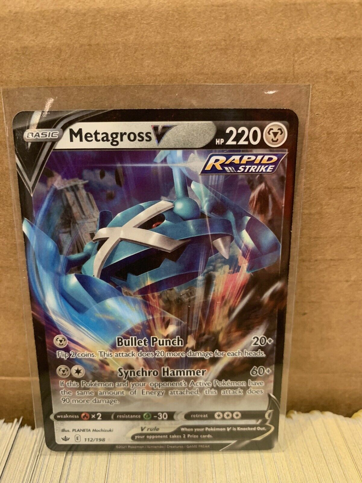 Metagross V 112/198 Ultra Rare Pokémon Chilling Reign - NM/M TCG