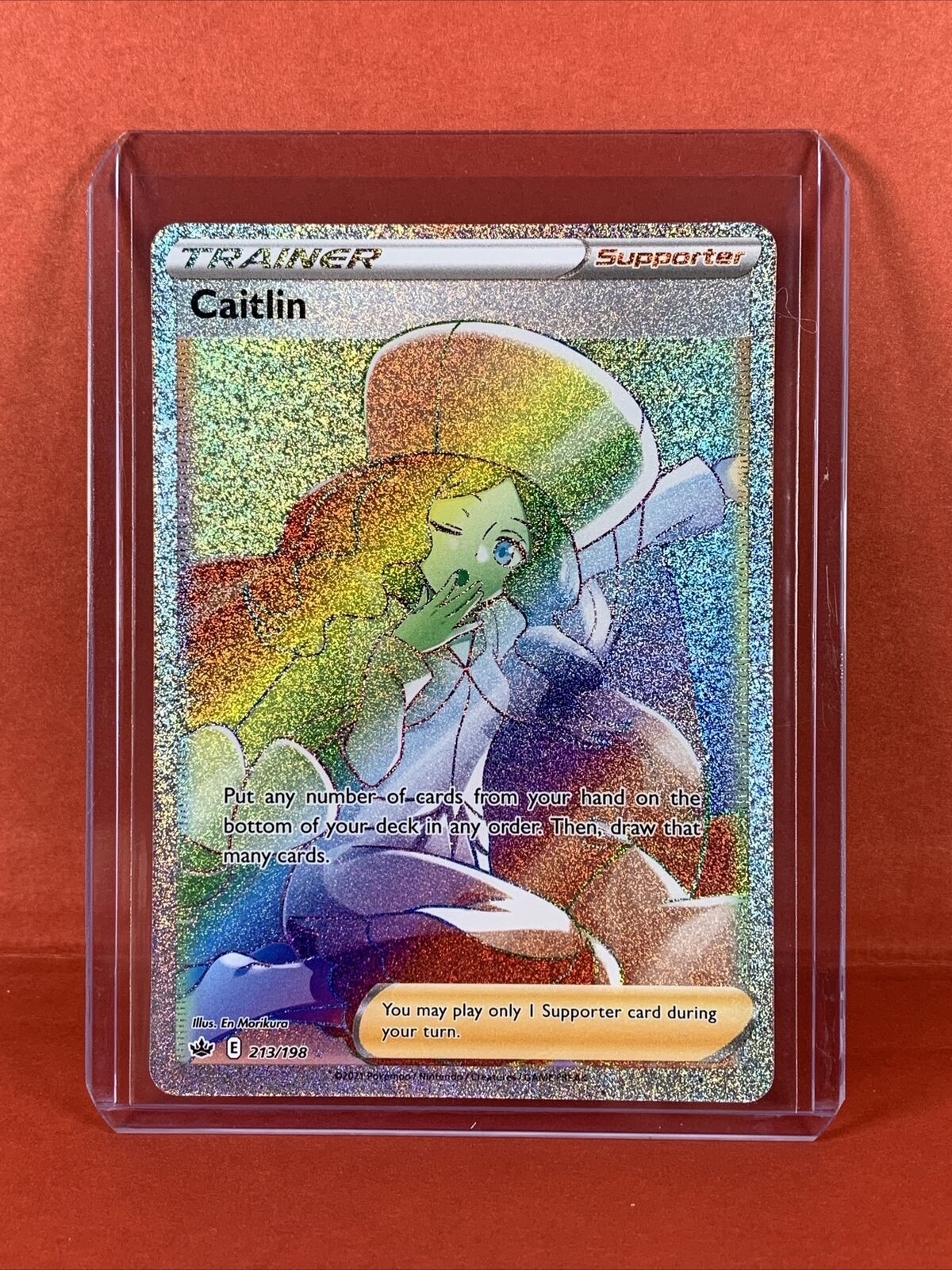 Pokemon Chilling Reign - Rainbow Full Art Ultra Rare - Caitlin 213/198 - NM/M