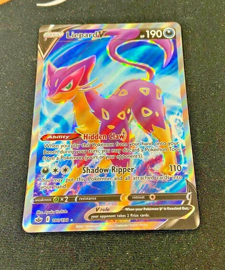 Liepard V - 180/198 Chilling Reign (Pokemon) Full Art Ultra Rare