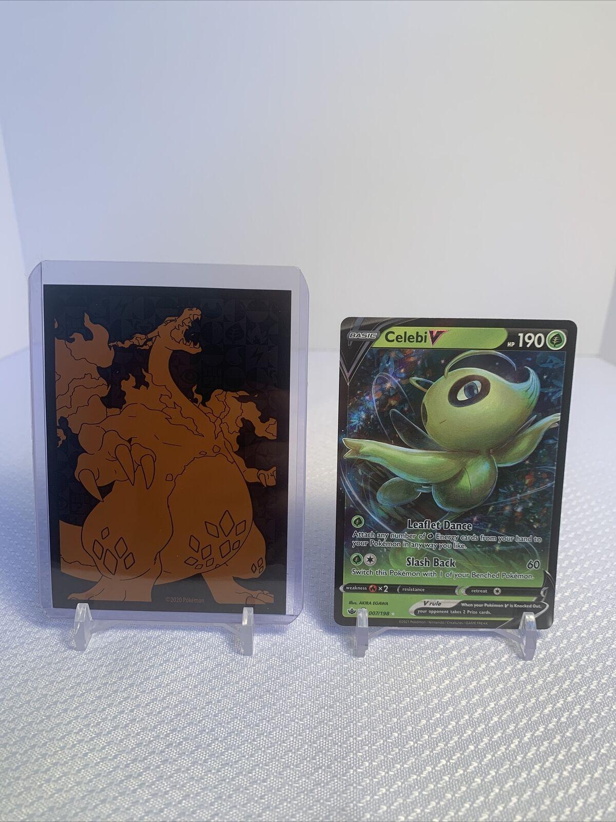 Pokemon: Chilling Reign Celebi V 007/198 IN HAND NM/M - Free Shipping