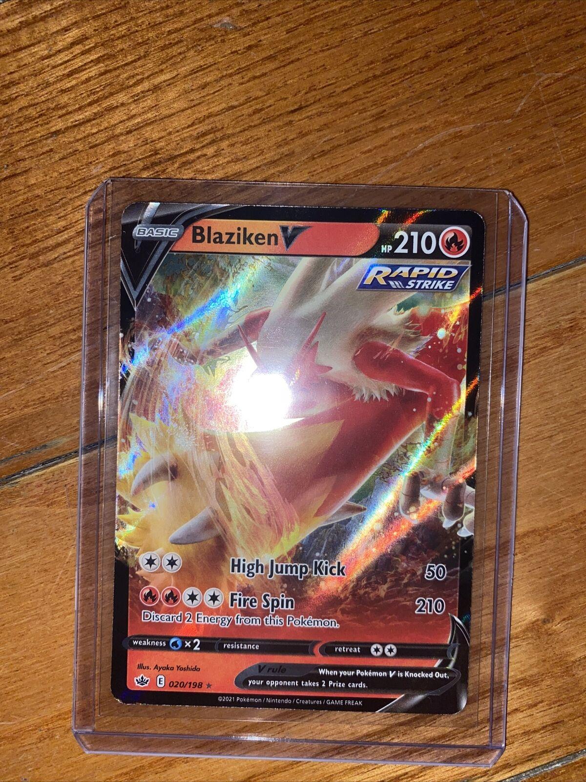 Blaziken V 020/198 Ultra Rare Chilling Reign POKEMON TCG FULL ART